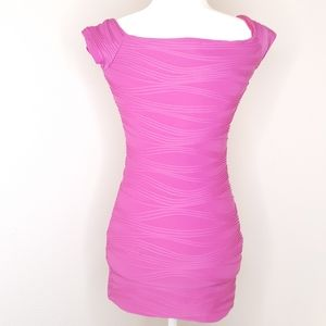 Wet Seal Pink Body Con Rouched Dress Size Small